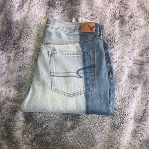 American Eagle Vintage Hi-Rise Two-Toned Jeans
